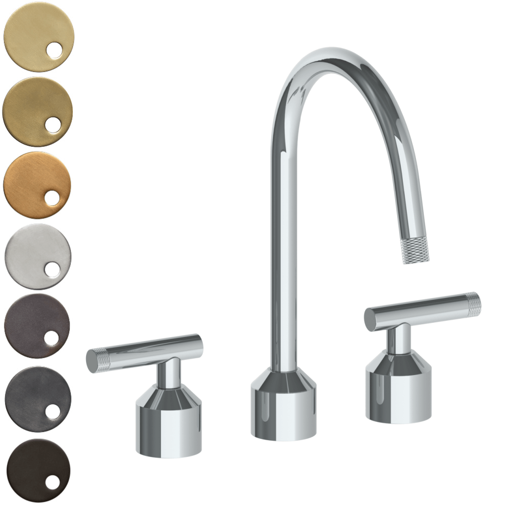 The Watermark Collection Urbane 3 Hole Kitchen Set with Swan Spout - Astor Handle