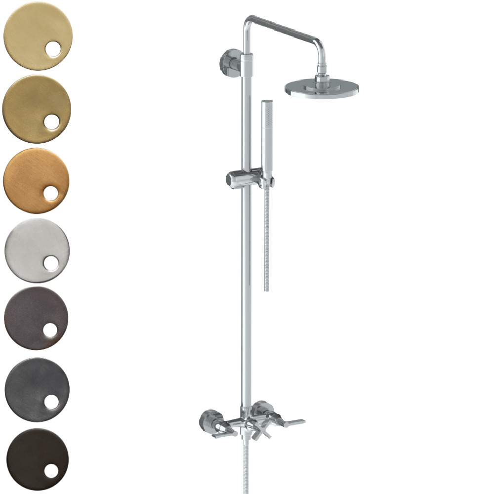 The Watermark Collection London Exposed Deluge Shower & Hand Shower Set - Lever Handle