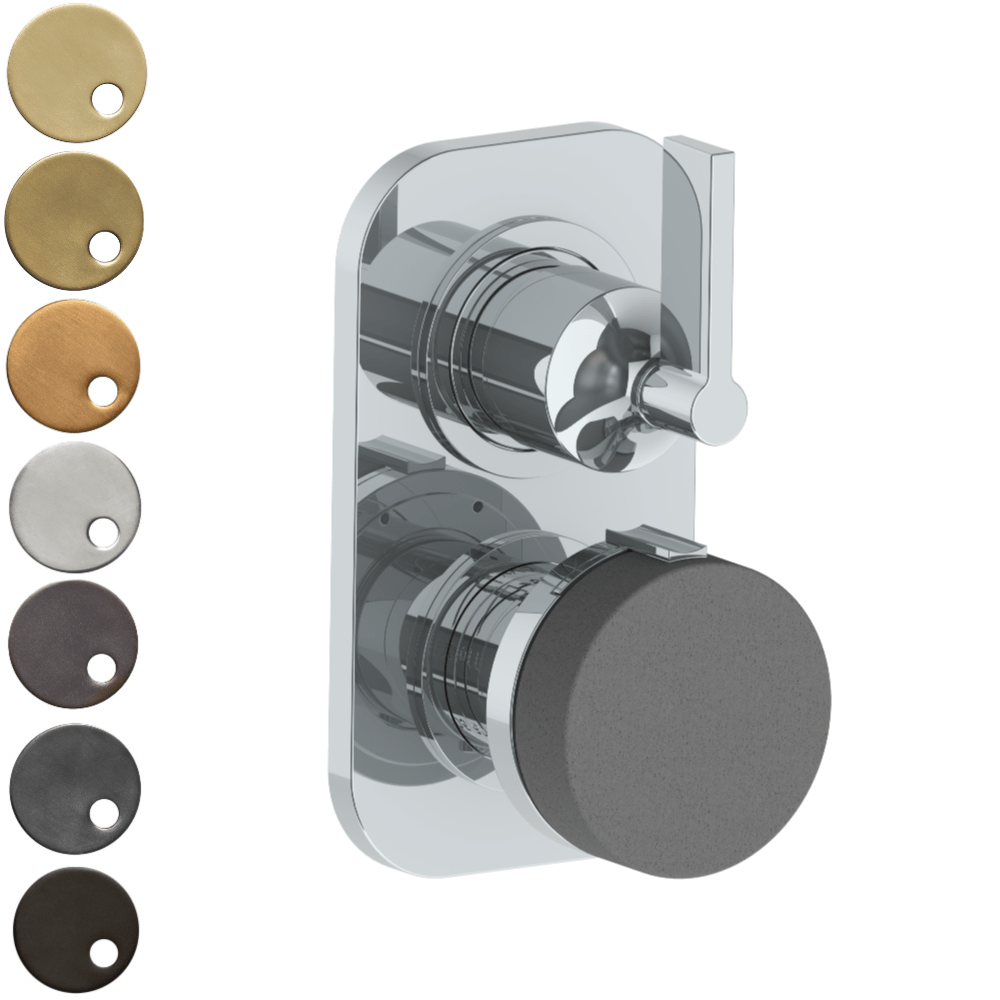 The Watermark Collection Elements Mini Thermostatic Shower Mixer with Diverter - Scallop Insert