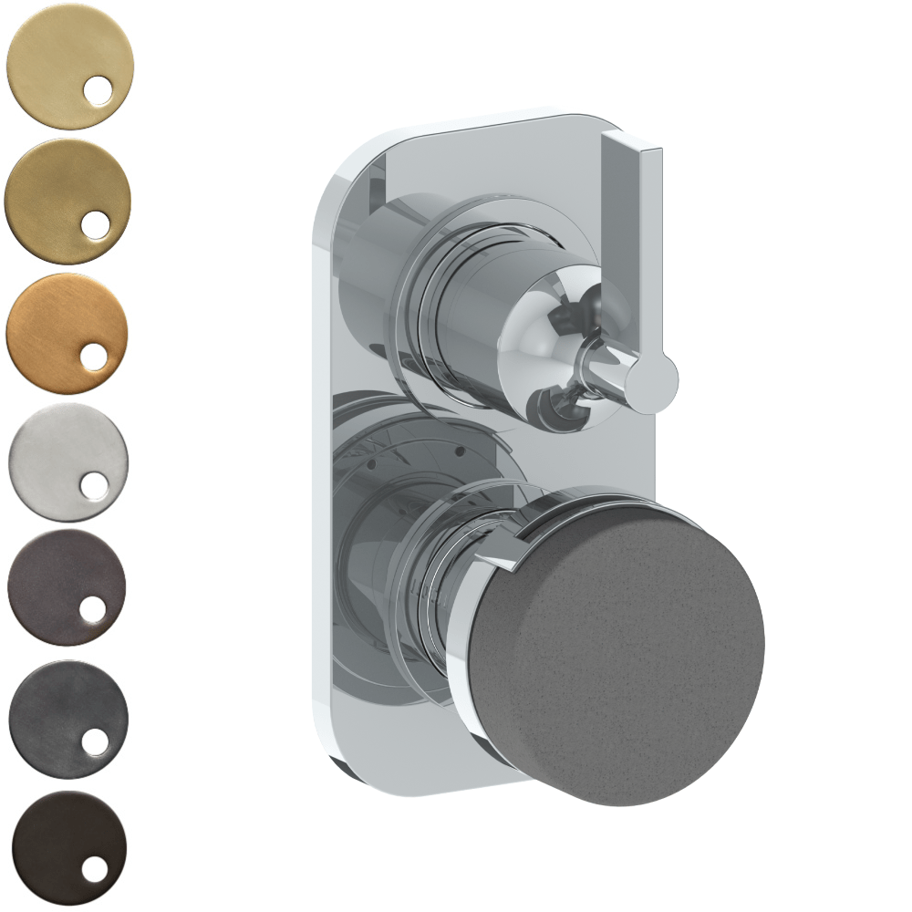 The Watermark Collection Elements Mini Thermostatic Shower Mixer with Diverter - Bridge Insert