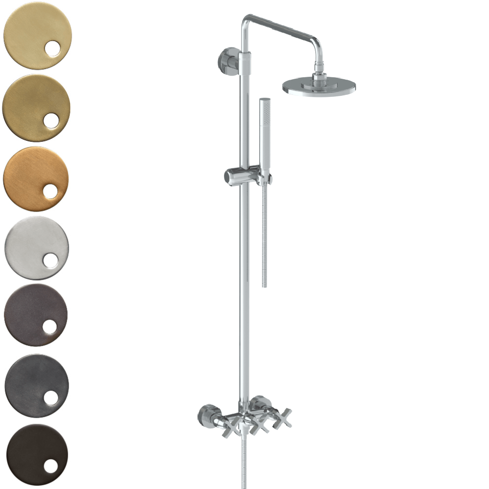 The Watermark Collection London Exposed Deluge Shower & Hand Shower Set - Cross Handle