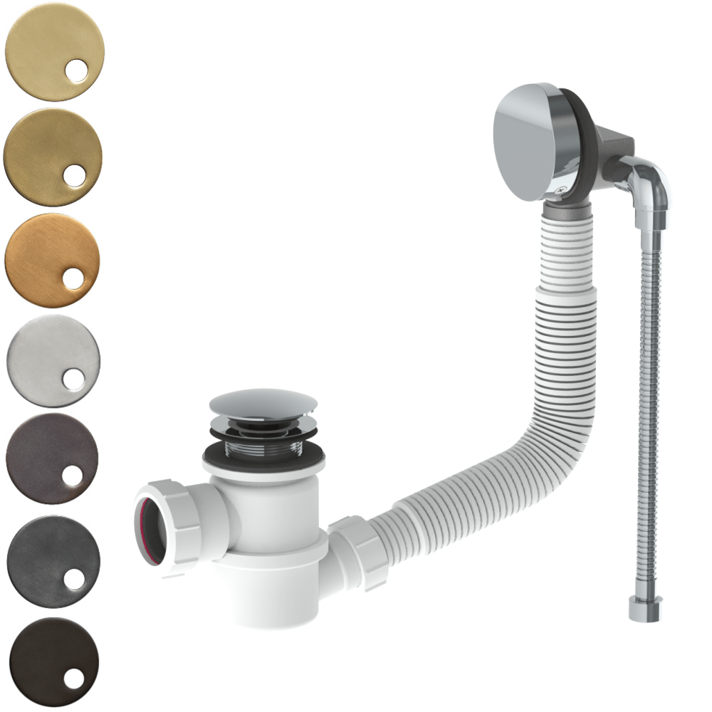 "The Watermark Collection Ancillaries Bath Waste with Overflow & 1/2"" Flexible Connection"