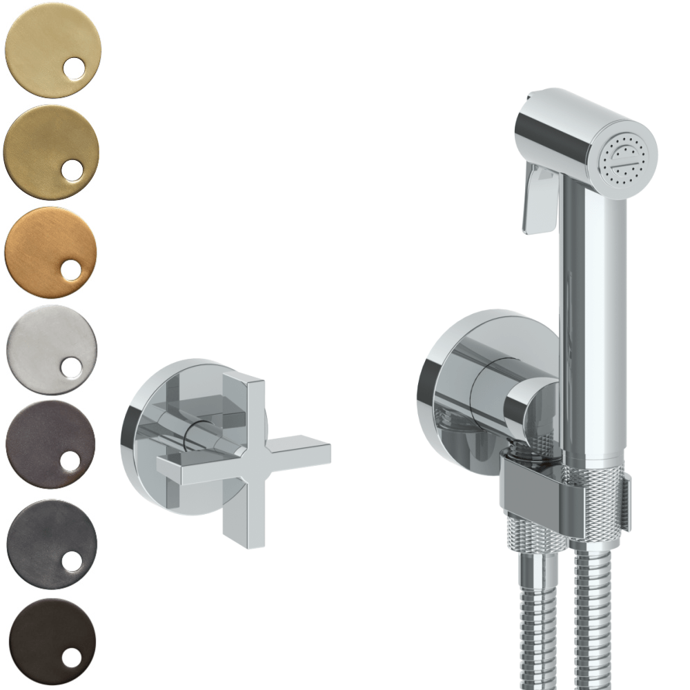 The Watermark Collection London Wall Mounted Bidet Spray Set with Mixer - Cross Handle