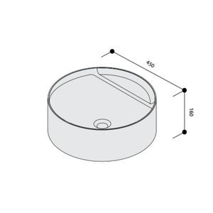 United Products Orlo Round Vessel Basin