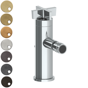The Watermark Collection London Monoblock Bidet Mixer - Cross Handle