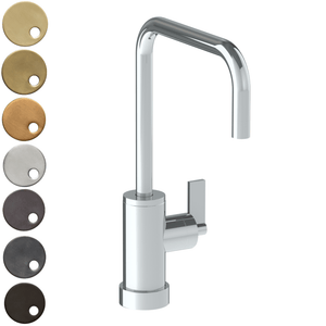 The Watermark Collection London Monoblock Kitchen Mixer with Square Spout - Lever Handle