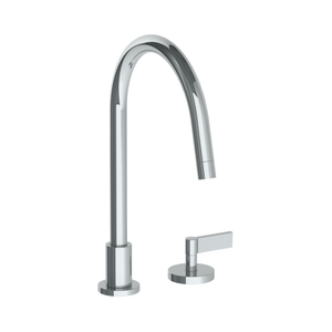 The Watermark Collection London 2 Hole Kitchen Set with Swan Spout - Lever Handle