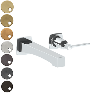 The Watermark Collection Highline Wall Mounted 2 Hole Basin Set with Transitional Spout - Lever Handle
