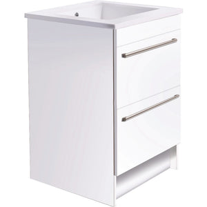 Bath & Co 600mm Laundry Cabinet – 2 Drawers, White