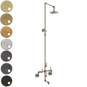 The Watermark Collection Elan Vital Wall Mounted Exposed Thermostatic Bath & Deluge Shower Set