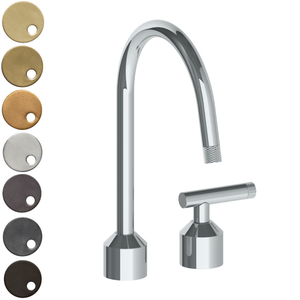 The Watermark Collection Urbane 2 Hole Kitchen Set with Swan Spout - Astor Handle