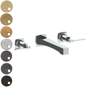 The Watermark Collection Highline Wall Mounted 3 Hole Basin Set with Transitional Spout - Lever Handle