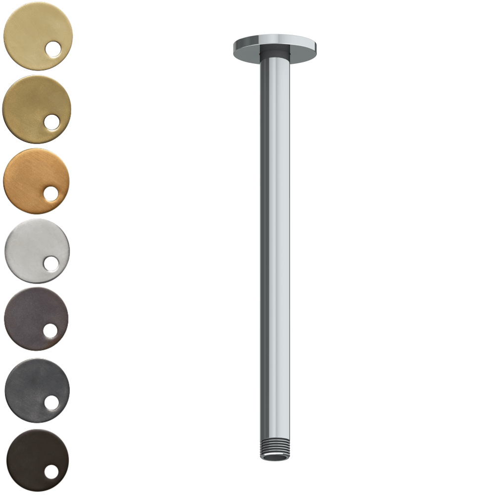 The Watermark Collection Titanium Ceiling Mounted Shower Arm 290mm