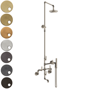 The Watermark Collection Elan Vital Wall Mounted Exposed Thermostatic Bath, Deluge Shower & Slimline Hand Shower Set