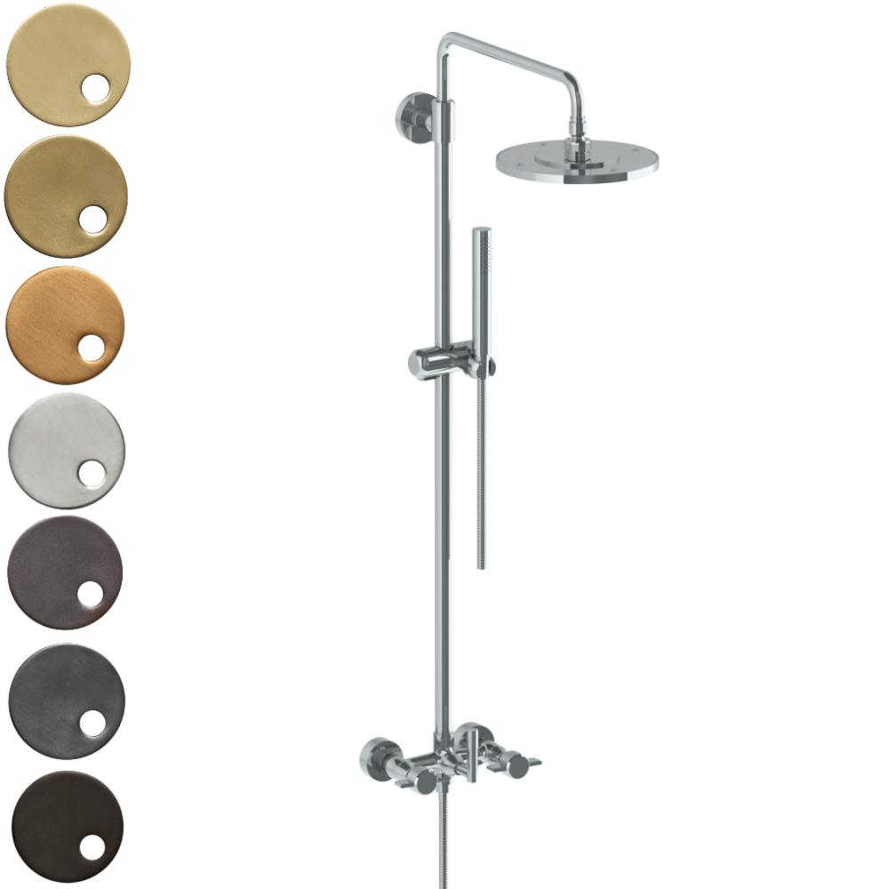 The Watermark Collection Urbane Exposed Deluge Shower & Hand Shower Set - Cooper Handle