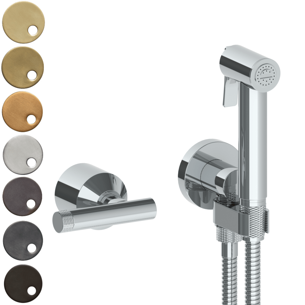 The Watermark Collection Urbane Wall Mounted Bidet Spray Set with Mixer - Astor Handle