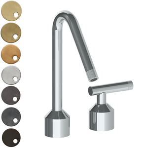 The Watermark Collection Urbane 2 Hole Kitchen Set with Angled Spout - Astor Handle