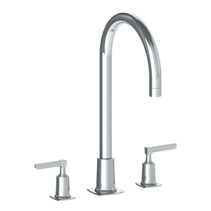 The Watermark Collection Highline 3 Hole Bath Set with Smooth Spout - Lever Handle