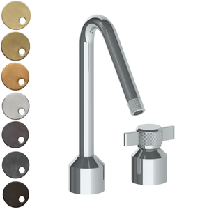 The Watermark Collection Urbane 2 Hole Kitchen Set with Angled Spout - Cooper Handle