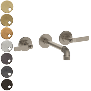 The Watermark Collection Elan Vital Wall Mounted 3 Hole Basin Set with 190mm Spout