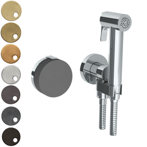 The Watermark Collection Elements Wall Mounted Bidet Spray Set with Mixer - Scallop Insert