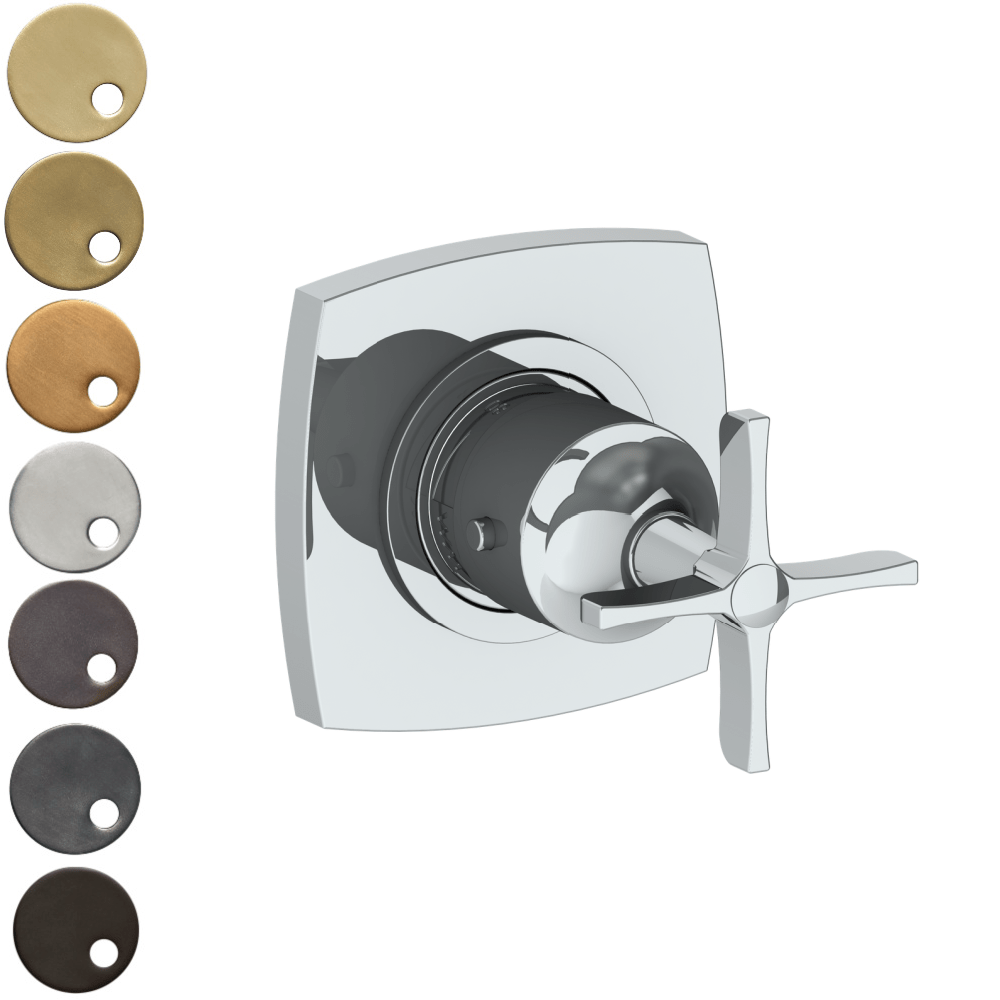 The Watermark Collection Highline Mini Thermostatic Shower Mixer - Cross Handle