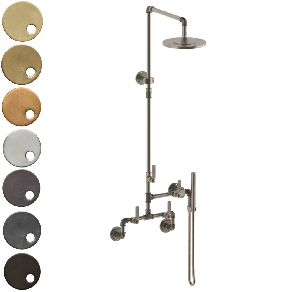 The Watermark Collection Elan Vital Exposed Deluge Shower & Hand Shower Set