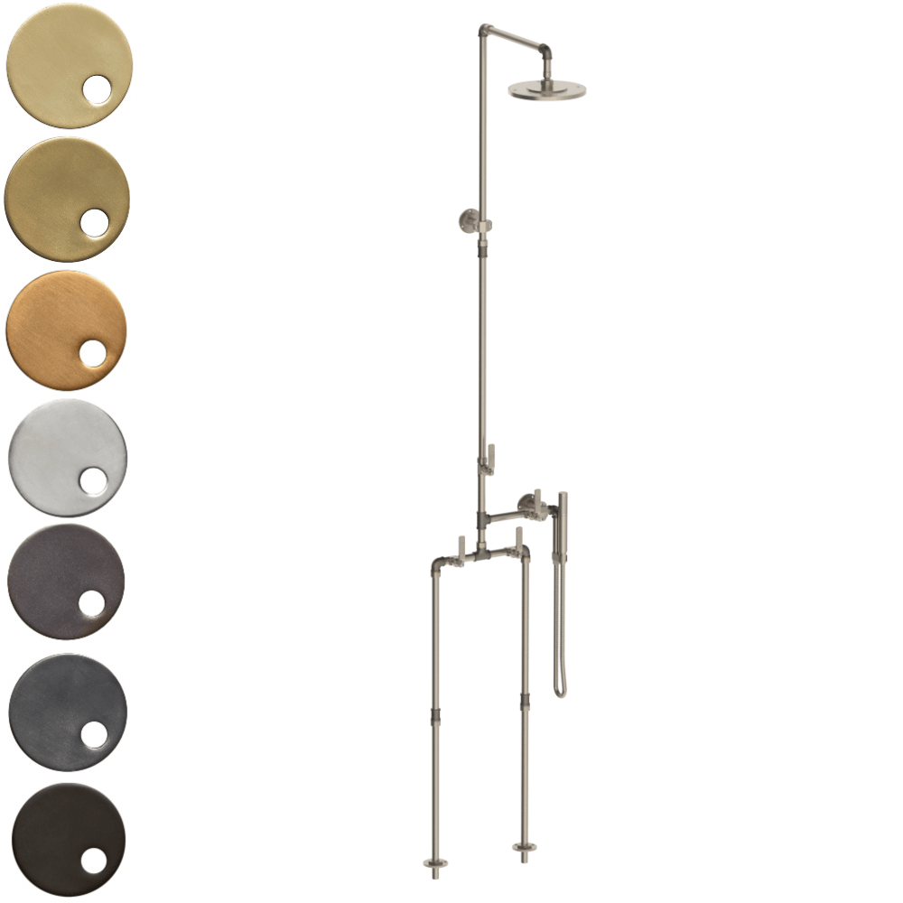 The Watermark Collection Elan Vital Freestanding Exposed Deluge Shower & Hand Shower Set