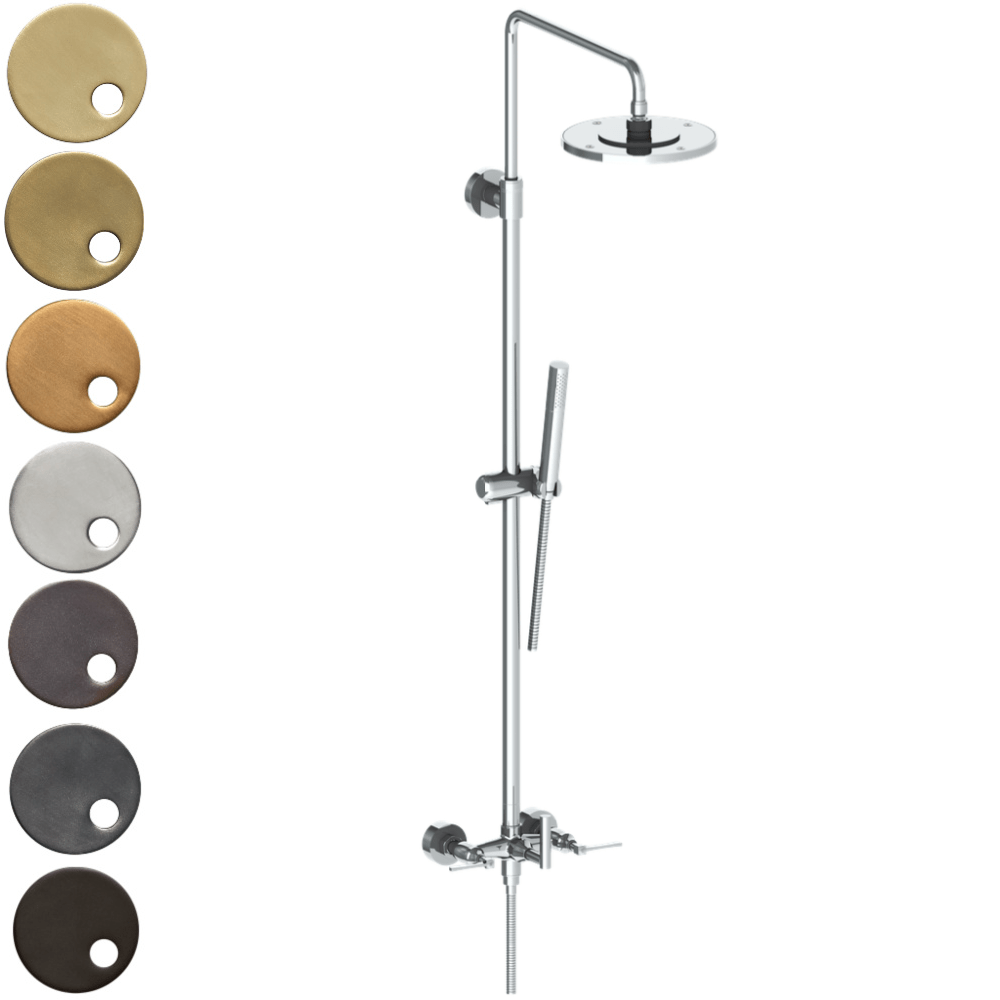 The Watermark Collection Highline Exposed Deluge Shower & Hand Shower Set - Lever Handle