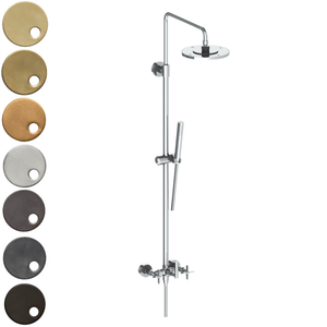The Watermark Collection Highline Exposed Deluge Shower & Hand Shower Set - Cross Handle