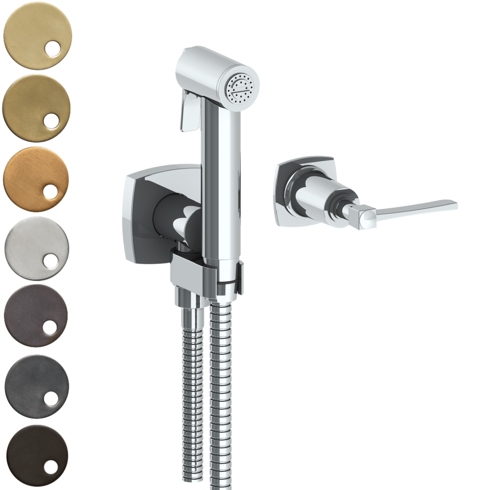The Watermark Collection Highline Wall Mounted Bidet Spray Set with Mixer - Lever Handle