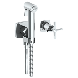 The Watermark Collection Highline Wall Mounted Bidet Spray Set with Mixer - Cross Handle