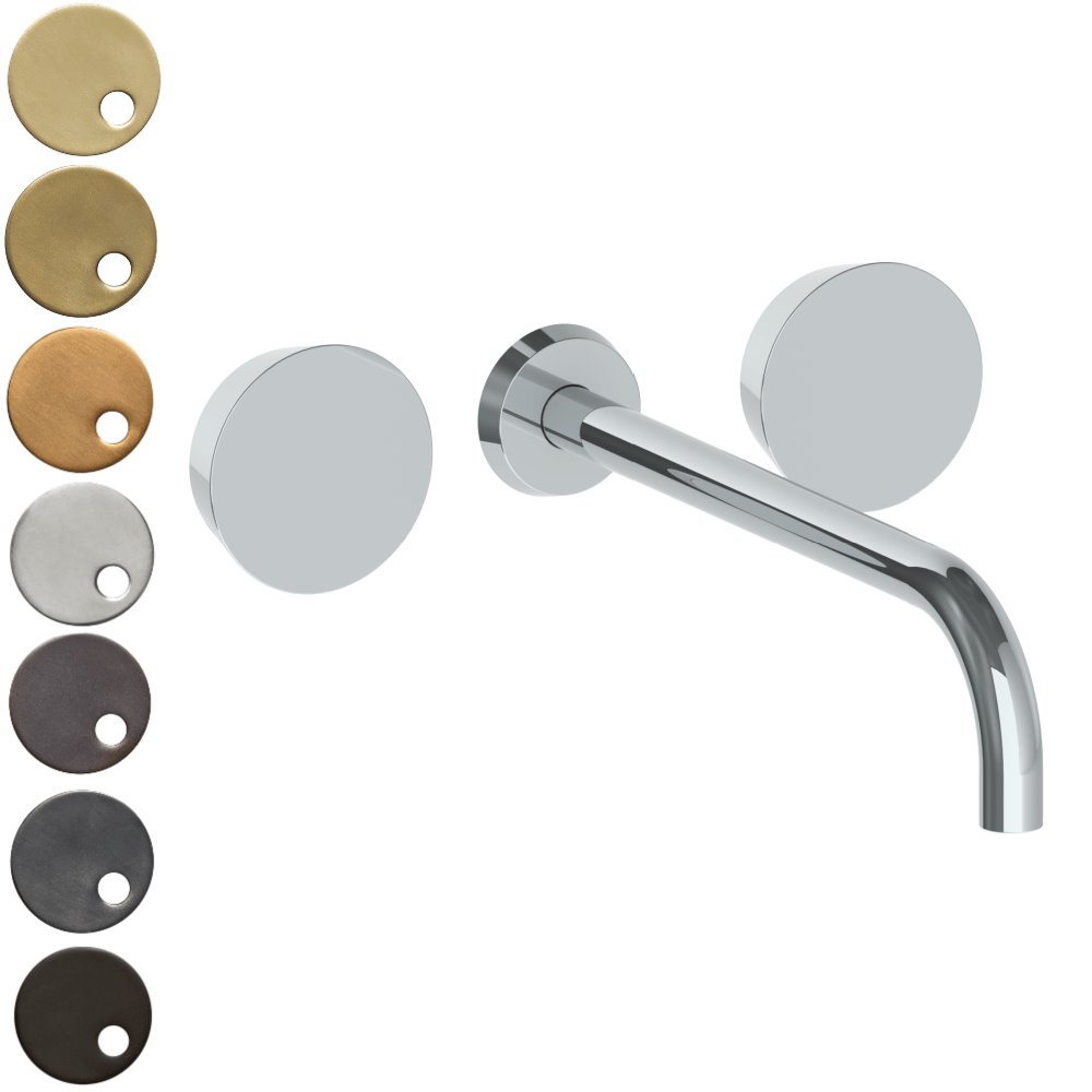The Watermark Collection Zen Wall Mounted 3 Hole Basin Set with 296mm Spout