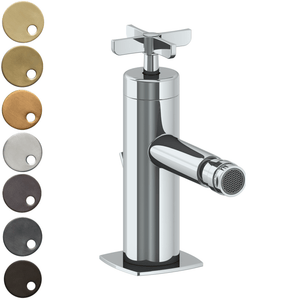 The Watermark Collection Highline Monoblock Bidet Mixer - Cross Handle