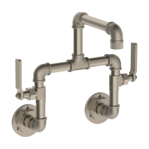 The Watermark Collection Elan Vital  Wall Mounted Basin Tap with 235mm Swivel Spout