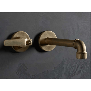 The Watermark Collection Elan Vital Wall Mounted 2 Hole Basin Set with 190mm Spout