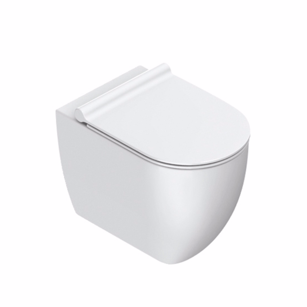 Sfera 54 Rimless Floor Mount Toilet Matt White
