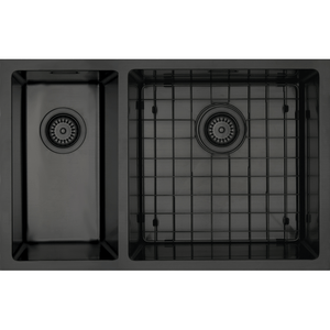 Mercer Aurora Double Sink | 400 + 200mm | Black