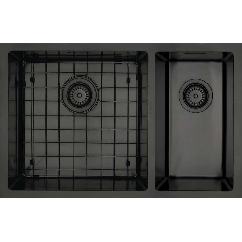 Mercer Aurora Series Sink 400 x 400mm + 200 x 400mm - Black