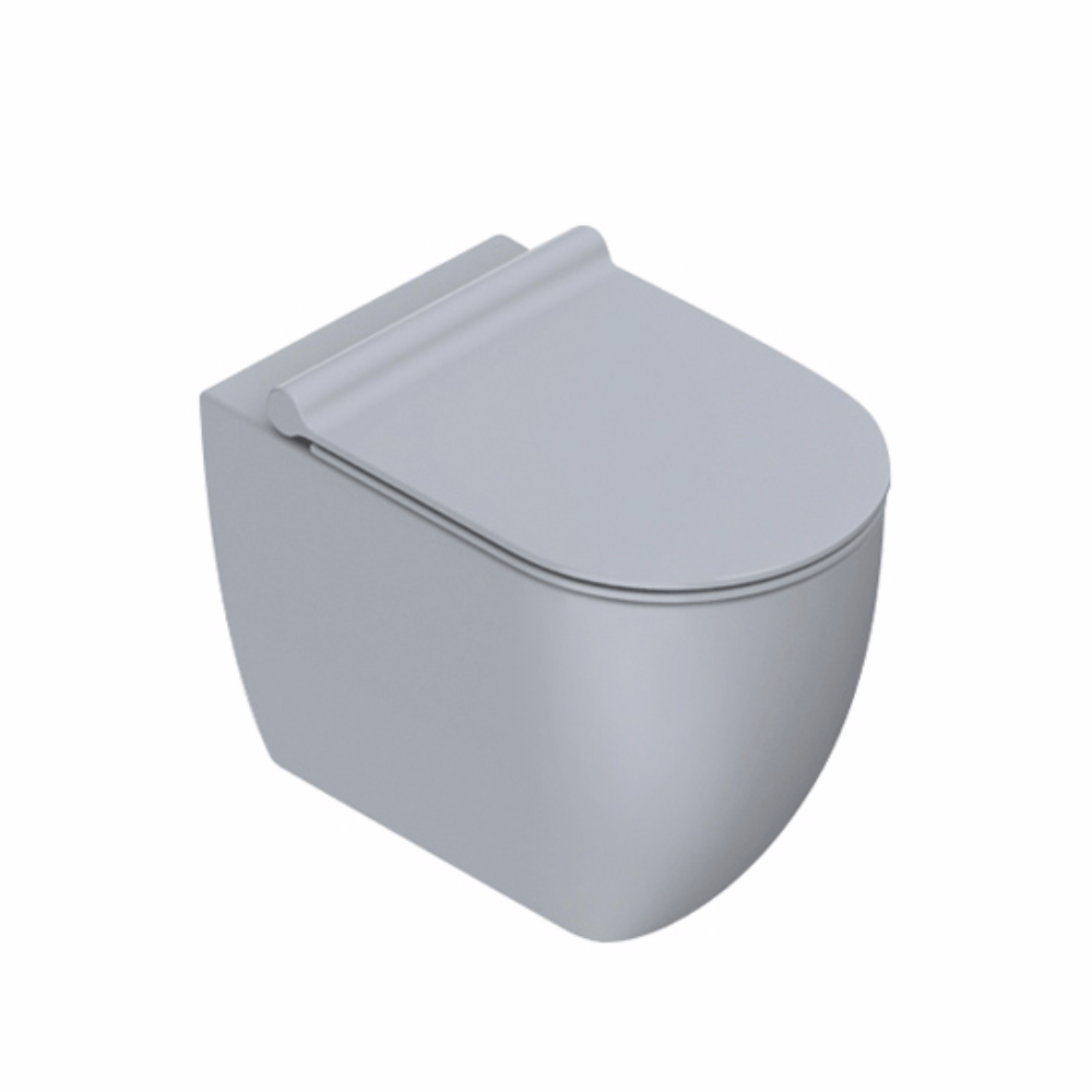 Sfera 54 Rimless Floor Mount Toilet Matt Cement