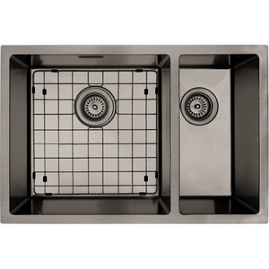 Mercer Aurora Double Sink | 400 + 200mm | Gunmetal