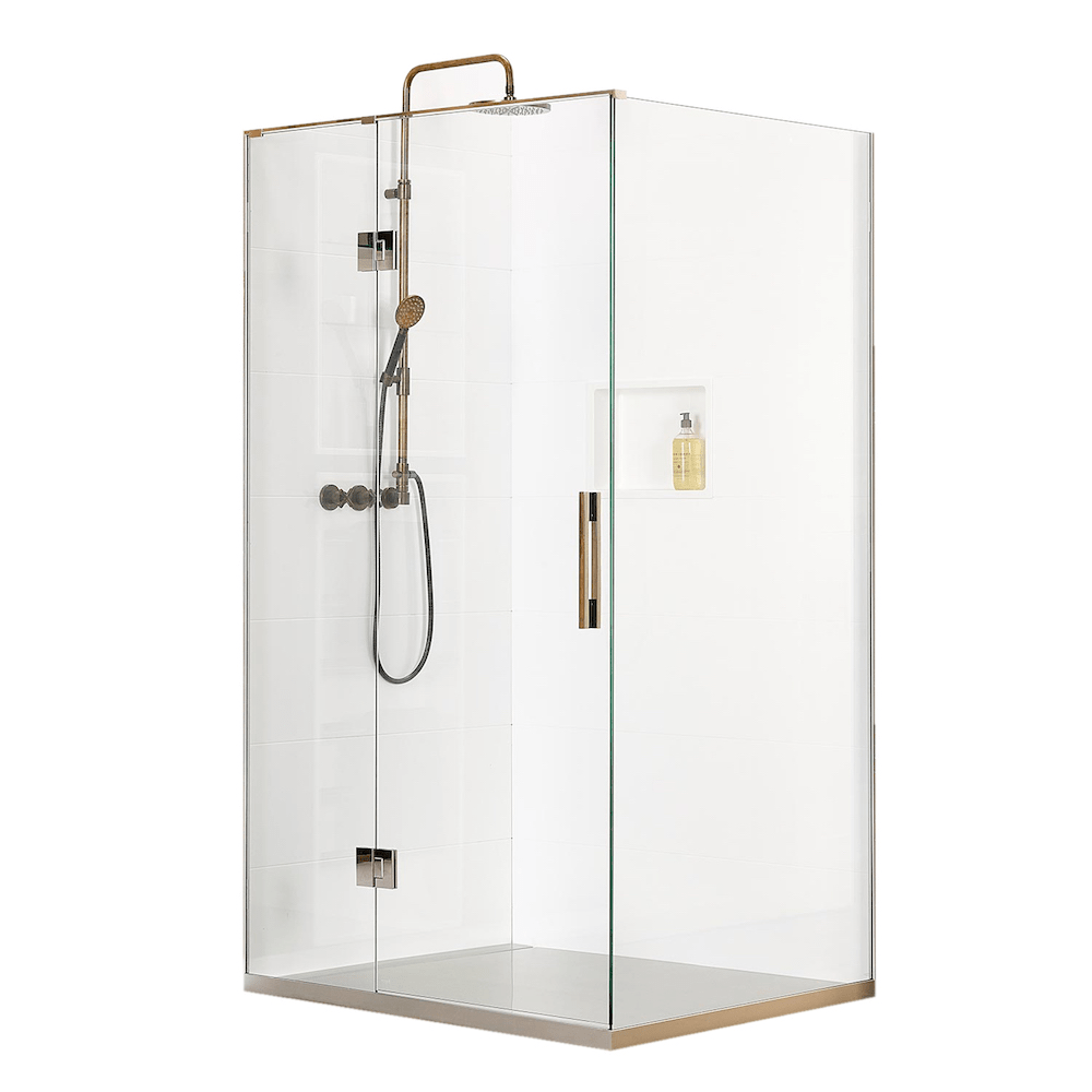 Atlantis Linea Quattro Rio 2-Walled Shower - 1100 x 900mm