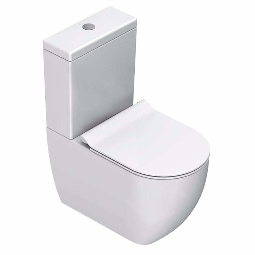 Sfera 63 Rimless Back To Wall Toilet Suite - Matt White