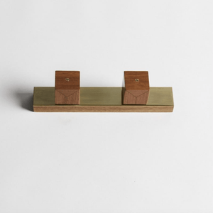 Wood Melbourne Ollie Square Timber Taps with One-Piece Backplate