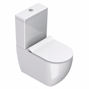 Sfera 63 Rimless Back To Wall Toilet Suite White Slim Seat