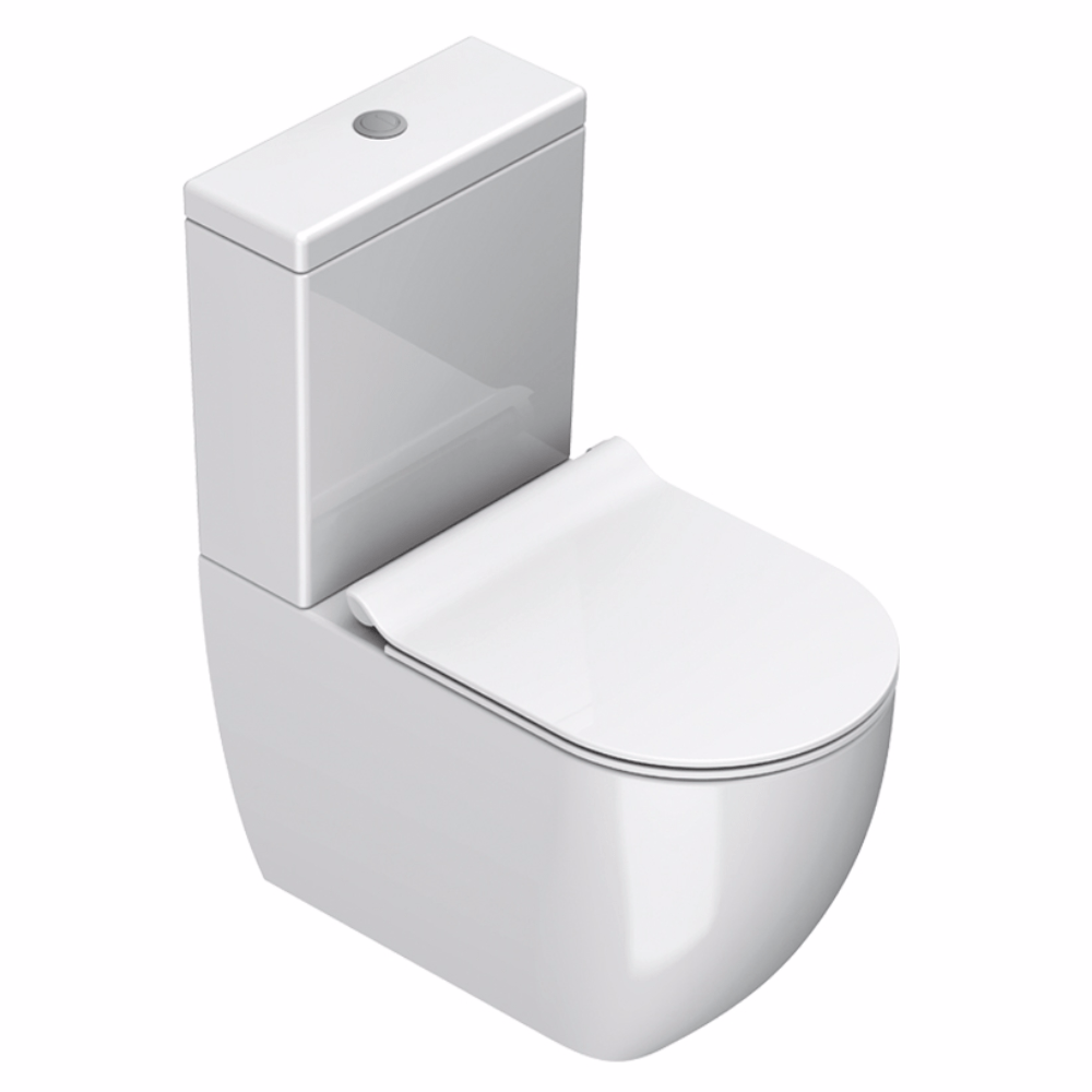 Catalano Sfera 63 Rimless Back To Wall Toilet Suite | Gloss White