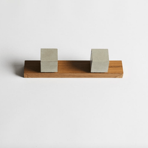 Wood Melbourne Bella Square Concrete Taps with One-Piece Backplate
