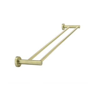 Meir Round Double Towel Rail - Tiger Bronze