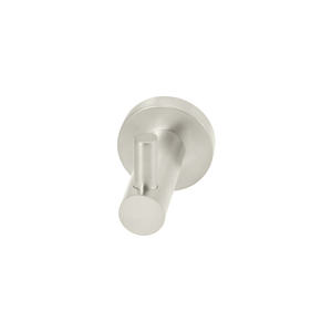 Meir Round Robe Hook | Brushed Nickel