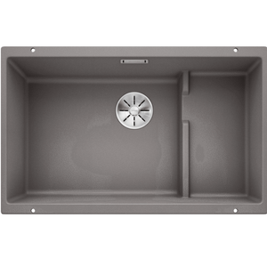 Blanco Silgranit Subline 700-U Single Sink | Alumetallic Grey